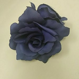 Accessories - Blue roses pin up hair piece